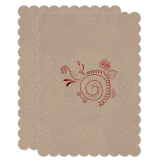 SUMMER PARTY INVITATION WITH RED HENNA ART
