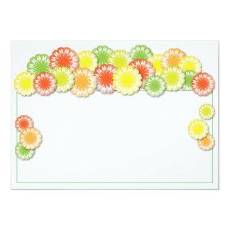 Summer Party Invitation | Yellow/Orange/Lime Daisy
