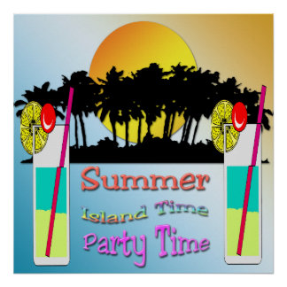 Summer - Party Time Poster