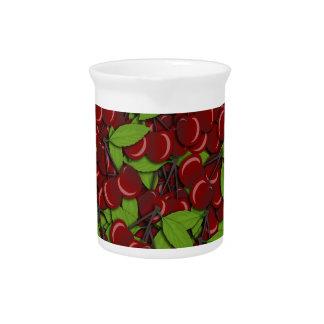 Summer pattern - Cherries Pitcher
