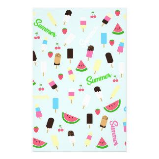 Summer pattern personalised stationery
