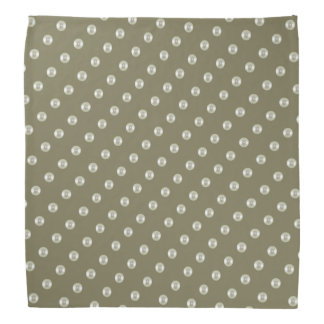 Summer pearls on taupe color bandana