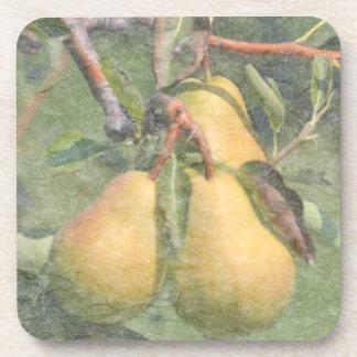 Summer Pears Beverage Coasters