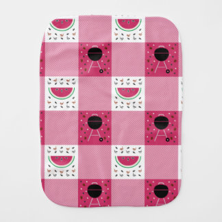 Summer Picnic Burp Cloth