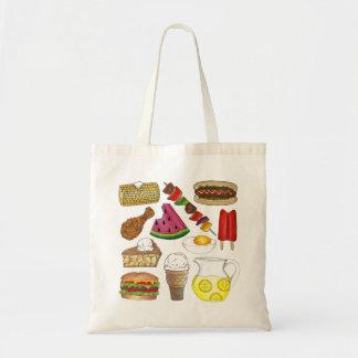 Summer Picnic Food Foods BBQ Foodie Tote