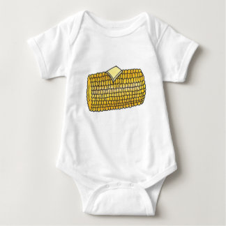 Summer Picnic Yellow Corn on the Cob Butter Baby Bodysuit