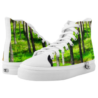 Summer pine forest printed shoes