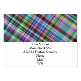 Summer plaid pack of chubby business cards