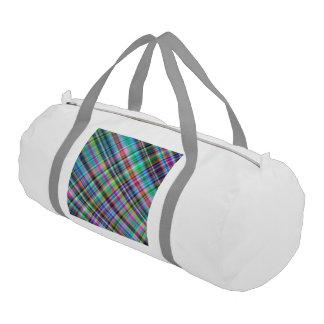 Summer plaid gym duffel bag