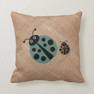 Summer Polka Dot Lady Bugs Pillow