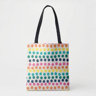 Summer Polka Dot Pattern Tote Bag