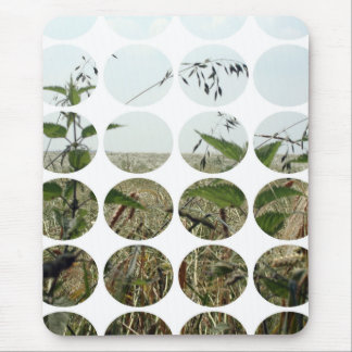 Summer Polka Dots Fields Skies Mouse Pad