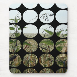 Summer Polka Dots Fields Skies Mousepad