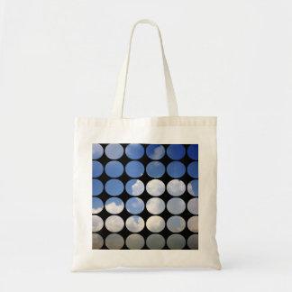 Summer Polka Dots White Clouds + Blue Skies Tote Bag