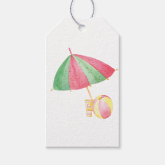 SUMMER POOL PARTY FAVOR GIFT TAGS