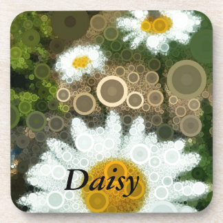 Summer Pop Art Concentric Circles Daisy Coaster