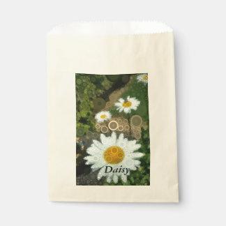 Summer Pop Art Concentric Circles Daisy Favors Favour Bag