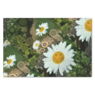 Summer Pop Art Concentric Circles Daisy Gift Wrap Tissue Paper