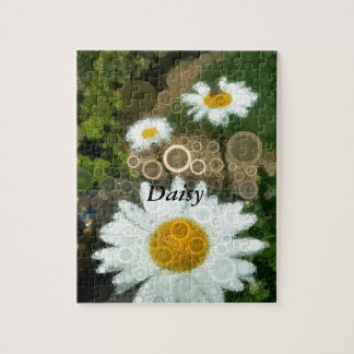 Summer Pop Art Concentric Circles Daisy Home Jigsaw Puzzle