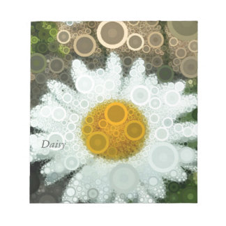Summer Pop Art Concentric Circles Daisy Home Notepad