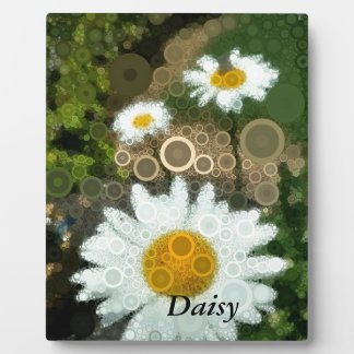 Summer Pop Art Concentric Circles Daisy Home Plaque