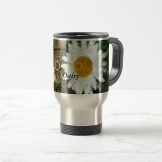 Summer Pop Art Concentric Circles Daisy Home Travel Mug