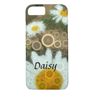 Summer Pop Art Concentric Circles Daisy iPhone 8/7 Case