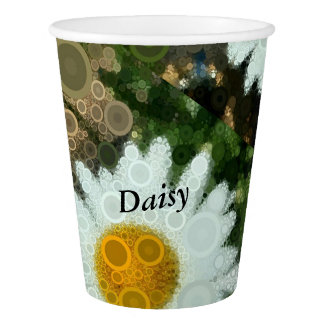 Summer Pop Art Concentric Circles Daisy Party Paper Cup