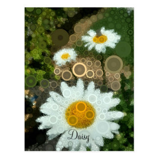 Summer Pop Art Concentric Circles Daisy postcard