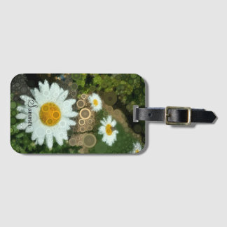 Summer Pop Art Concentric Circles Daisy Tag