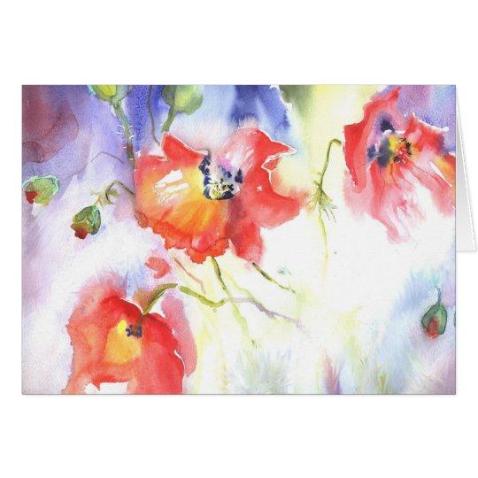 summer poppies dream card