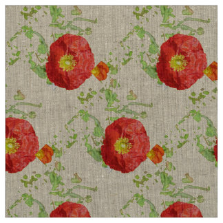 Summer Poppies Fabric