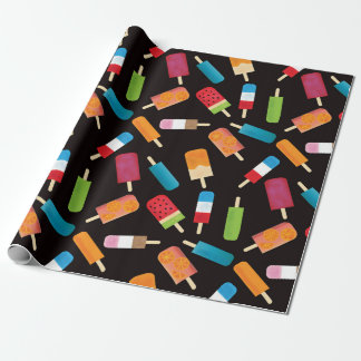 Summer Popsicles and Ice Cream Bars Wrapping Paper