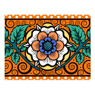 Summer Primrose in Orange - Postcard
