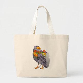 Summer Raven Large Tote Bag