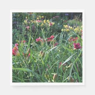 Summer Reblooming Daylily Garden Disposable Napkin