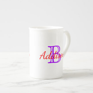 Summer Red and Purple Grape Monogram Tea Cup