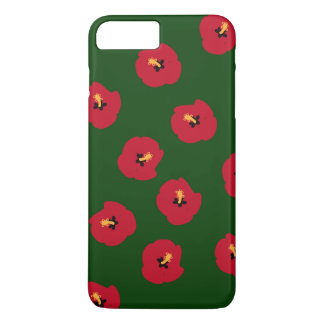 Summer Red Hibiscus pattern iPhone 8 Plus/7 Plus Case