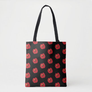 Summer Red Hibiscus Tote Bag