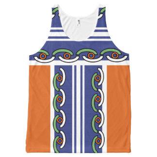 SUMMER ROLL TANK TOP, i Art & Designs, Cocuyo Arts All-Over Print Tank Top