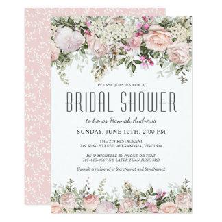 Summer Rose Garden Floral Bridal Shower Card