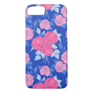Summer Rose in Pink - vintage roses, girly, pretty iPhone 7 Case
