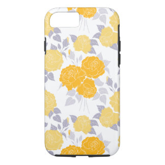 Summer Rose in Yellow - vintage roses, girly iPhone 7 Case