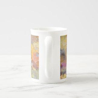 Summer Rose Watercolor Bone China Mug