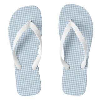 Summer-Sail-Gingham-Blue (c) Unisex_Multi-Styles Thongs