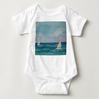 Summer Sailboat Babywear Baby Bodysuit