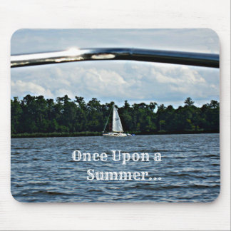 Summer sailboat scene with message mouse pad
