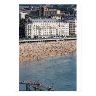 Summer San Sebastian beach Basque country Postcard