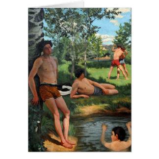Summer Scene, 1869 Card