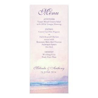 Summer Sea Menu Card